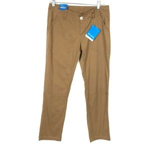 Columbia Brown Khaki Pants Straight Hiking Camp 4
